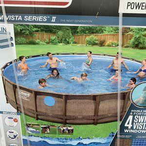 Coleman 22ft x 52in Swim Vista II Power Pool + Pum